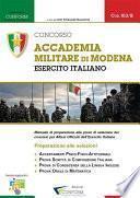 013B   Concorso Accademia Militare di Modena Esercito Italiano (Prove di Selezione - TPA, Tema, Prova Orale)