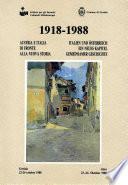 1918-1988. Austria e Italia di fronte alla nuova storia