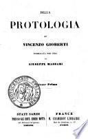 3-4: Della protologia