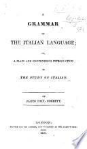 A Grammar of the Italian Language, etc