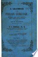 A grammar of the Italian language