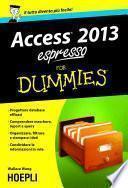 Access 2013 espresso For Dummies