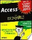 Access for dummies per le versioni 2002, 2003