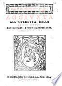 Aggiunta all'operetta delle linee rette equidistanti, et non equidistanti. Di Pietro Antonio Cataldo
