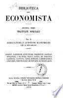 Agricoltura e quistioni economiche che la riguardano