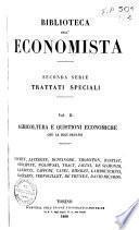 Agricoltura e quistioni economiche