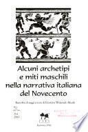 Alcuni archetipi e miti maschili nella narrativa italiana del Novecento
