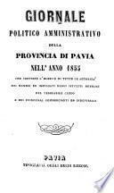 Almanacco Della Provincia Di Pavia per l' anno ...