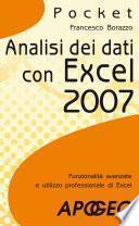 Analisi dei dati con Excel 2007