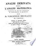 Analisi Derivata Ossia L'Analisi Matematica