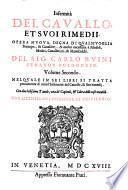 Anatomia Del Cavallo, Infermita Et Suoi Rimedii