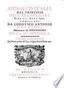 Annali d'Italia, dal principio dell'era volgare sino all' anno 1500: All' anno 400