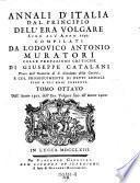 Annali d'Italia dal principio dell'era volgare sino all'anno 1750
