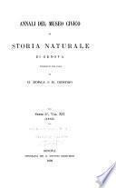 Annali del Museo civico di storia naturale di Genova