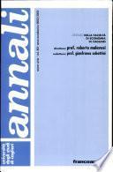 Annali dell'Università degli studi di Cagliari. Facoltà di economia