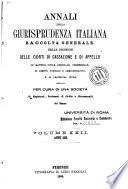 Annali della giurisprudenza italiana