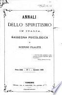Annali dello spiritismo in Italia