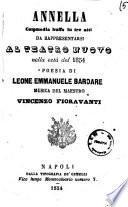 Annella commedia buffa in tre atti poesia di Leone Emmanuele Bardare