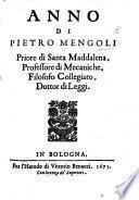 Anno di P. Mengoli