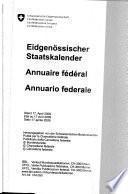 Annuaire fédéral