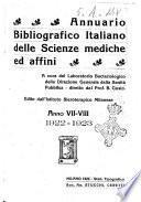 Annuario bibliografico italiano delle scienze mediche e affini