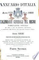 Annuario d'Italia, Calendario generale del Regno