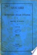 Annuario del Ministero delle finanze del Regno d'Italia