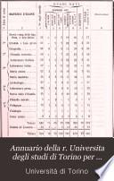 Annuario della r. Universita degli studi di Torino per l'anno accademico ..