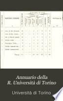 Annuario della R. Università di Torino