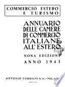 Annuario delle Camere di Commercio italiane all'estero commercio estero e turismo