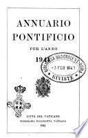Annuario pontificio per l'anno ... pubblicazione ufficiale