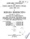 Annuario ufficiale delle forze armate del Regno d'Italia. 1, Regio esercito