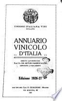 Annuario vinicolo d'Italia