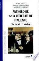 Anthologie de la littérature italienne