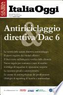 Antiriciclaggio & direttiva Dac 6