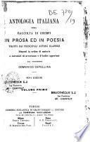 Antologia italiana ossia Raccolta di Esempi in Prosa ed in Poesia