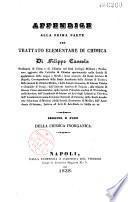 Appendice alla prima parte del trattato elementare di chimica
