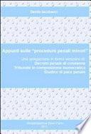 """Appunti sulle """"procedure penali minori"""""""