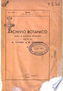 Archivio botanico pubblicato da Augusto Béguinot