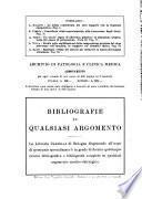 Archivio di patologia e clinica medica