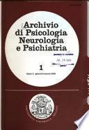 Archivio di psicologia, neurologia e psichiatria