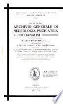 Archivio generale di neurologia, psichiatria e psicoanalisi