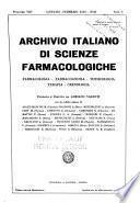 Archivio italiano di scienze farmacologiche