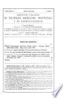 Archivio Italiano di Scienze Mediche Tropicale e di Parassitologia