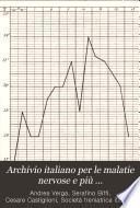 Archivio italiano per le malatie nervose e più particolarmente per le alienazioni mentali
