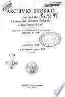 Archivio storico per la città e i comuni del territorio lodigiano e della diocesi di Lodi