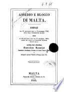 Assedio e blocco di Malta giornale ...