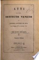 Atti del Reale Istituto Veneto di Scienze, Lettere ed Arti