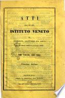 Atti dell'I.R. Istituto veneto di scienze, lettere ed arti