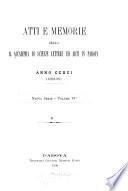 Atti e memorie della R. Accademia di scienze lettere ed arti in Padova